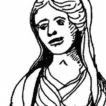 Picture of the Roman Hearth Goddess Vesta from our Roman mythology image library. Illustration by Chas Saunders.