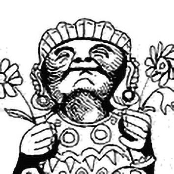 Picture of the Aztec Love God Xochipilli from our Aztec mythology image library. Illustration by Chas Saunders.